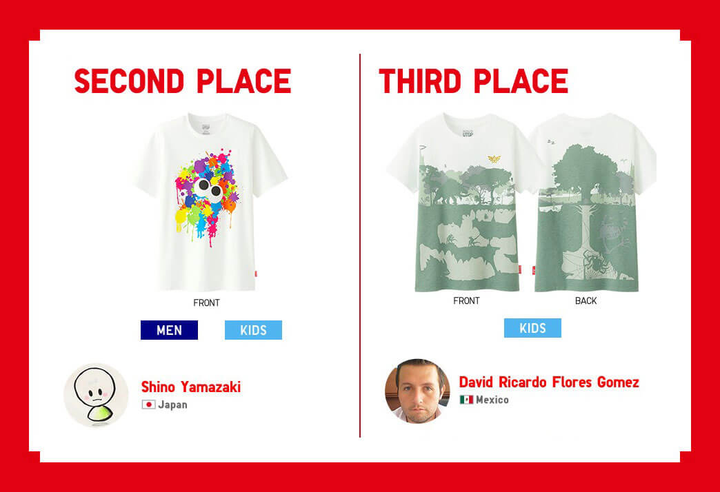 Shino Yamazaki y David Ricardo Flores Gómez Concurso de Playeras Nintendo