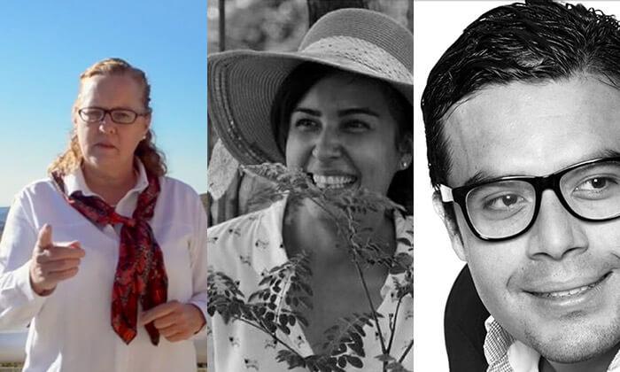 Lia Bijnsdorp, Cinthia Alemán y Darinel Herrera