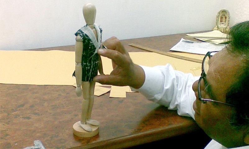 Maniquí de sastre Gilberto Ortiz
