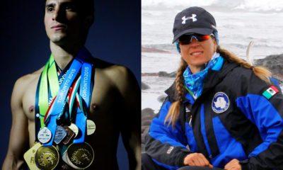 Atletas mexicanos, Rommel Pacheco y Karla Wheelock, reciben Doctor Honoris Causa