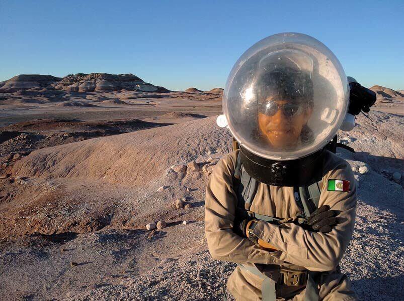 Yair Israel Piña López en viaje simulado a Marte en Utah