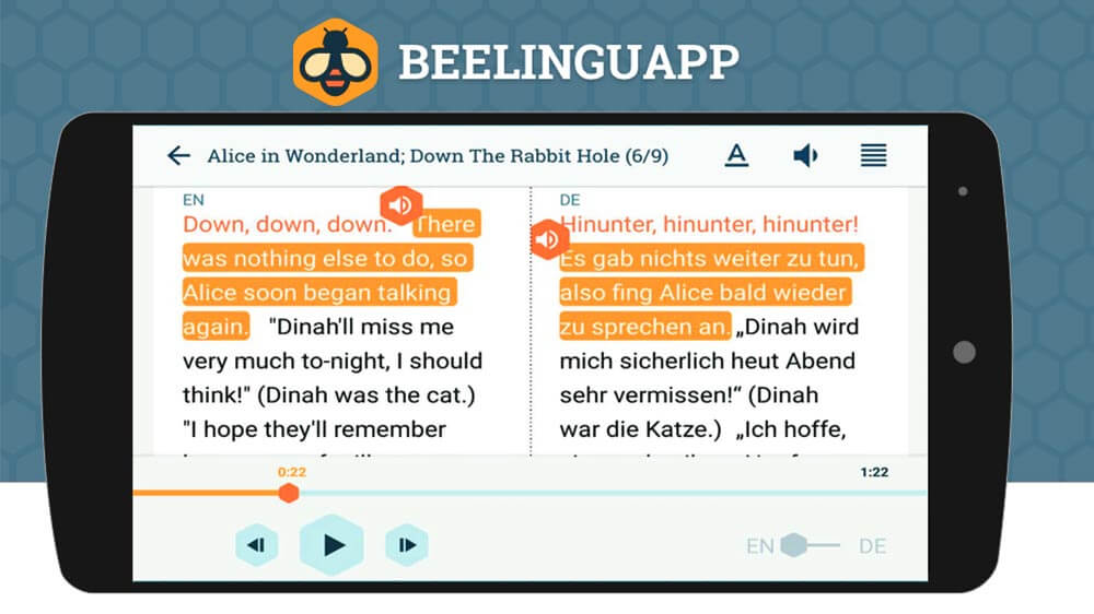 Aplicación Móvil Beelinguap