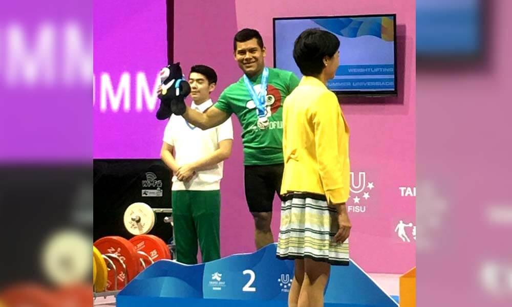 Antonio Vázquez gana plata en halterofilia Universiada Mundial Taipei 2017