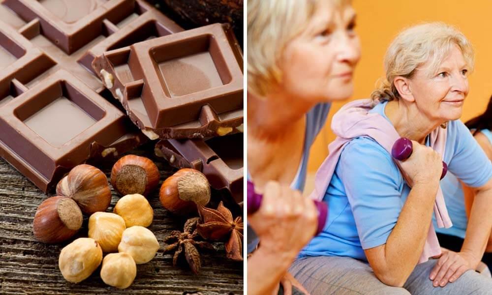 Propiedades curativas del chocolate que benefician la musculatura de personas de la tercera edad