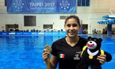 Clavadista mexicana Dolores Hernández Monzón medalla de oro en Universidad Mundial de Taipei 2017