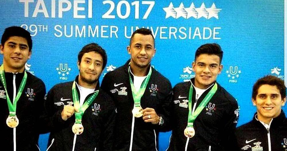 Equipo mexicano masculino de clavados en Taipei 2017