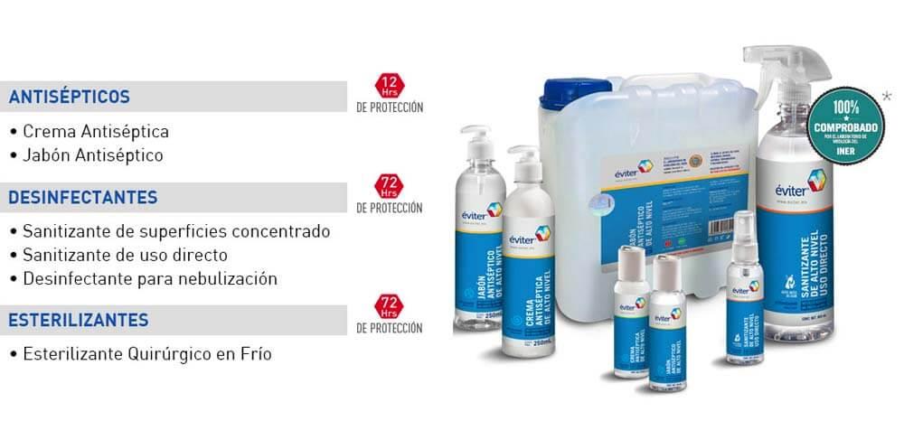 Éviter: productos de la empresa Gresmex con nanobiomolécula Nbelyax