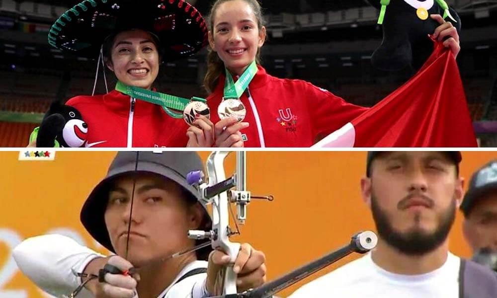 Medallas en Tae Kwon Do por Itzel Manjarrez y Victoria Heredia, Medallas en tiro con arco por Alejandra Valencia y Jorge Nevarez