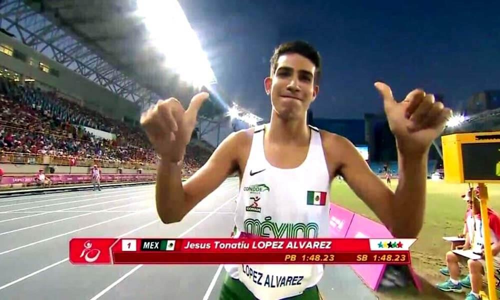 Jesús Tonatiu López Medalla de oro en 800 mts de Taipéi 2017