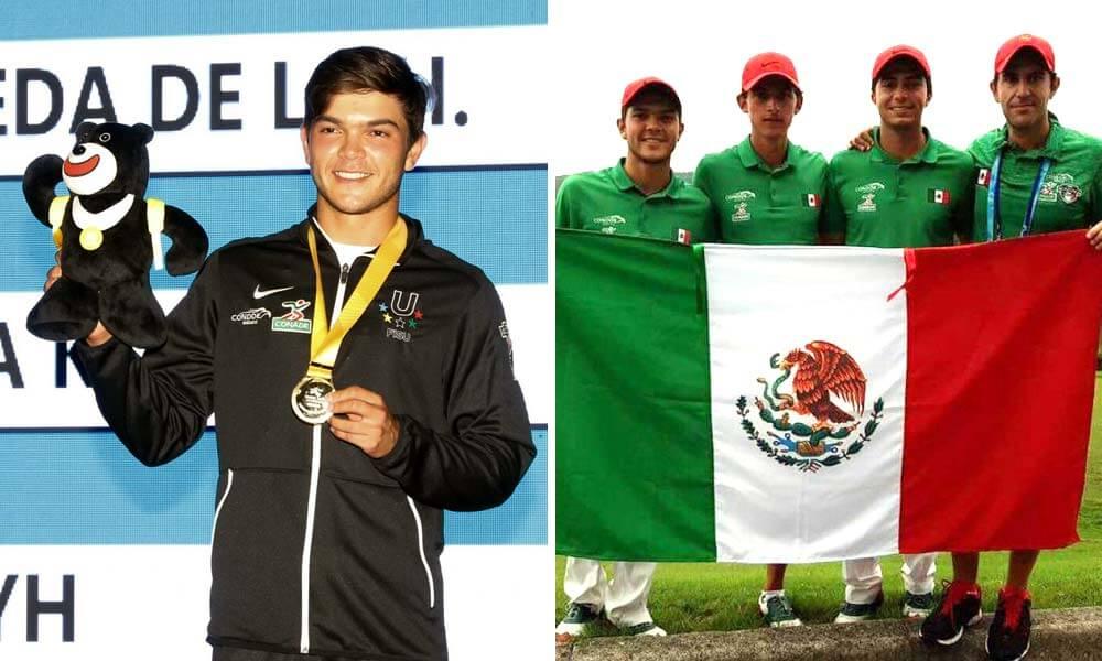Medalla para Golf Mexicano en Taipéi 2017 Raúl Pereda, Gerardo Garza Morfín, y Álvaro Ortiz Becerra