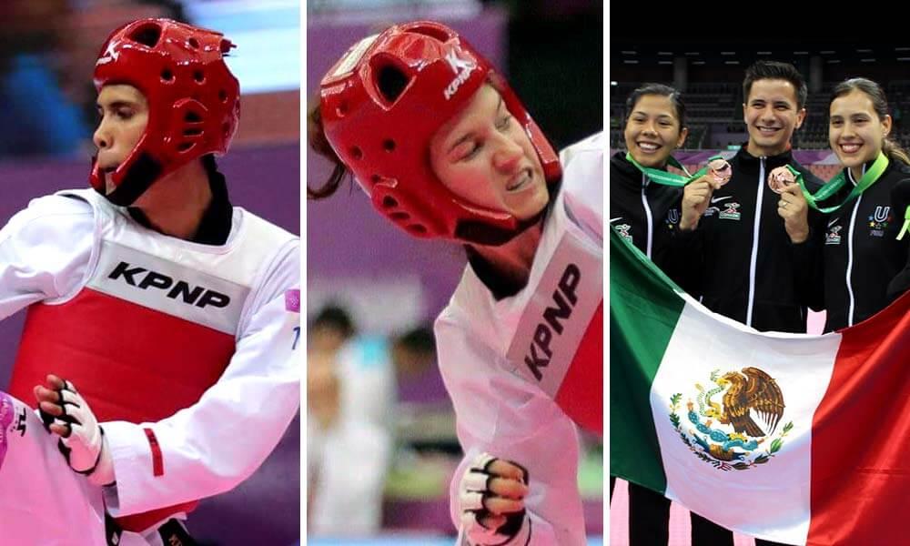 Medallas en Tae Kwon Do, Melissa Oviedo, Briseida Acosta, César Rodríguez y Paulina Armería