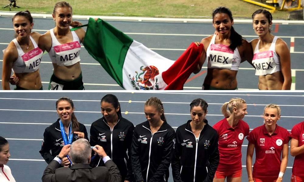 Natalie Brito, Dania Aguilón, Paola Morán e Iza Daniela Flores Medallas en Atletismo para México