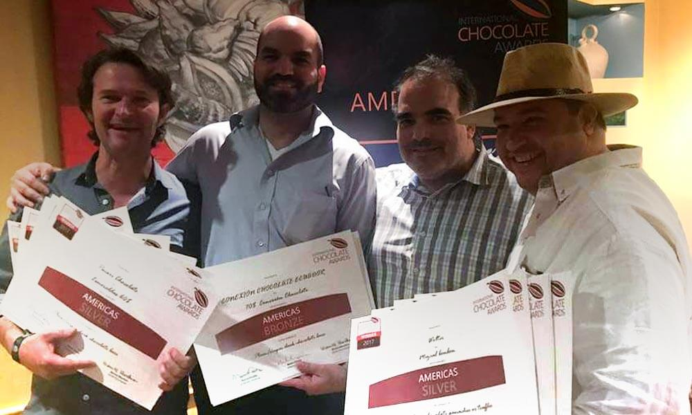 Premiación de Chocolates Wolter en International Chocolate Awards