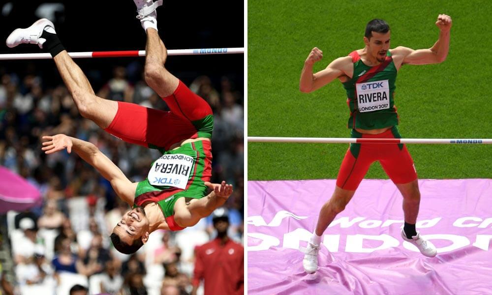 Salto de altura de Edgar Rivera en Mundial de Atletismo Londres 2017