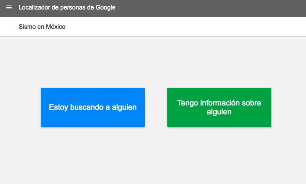 Ayuda vía Google para afectados del sismo en México