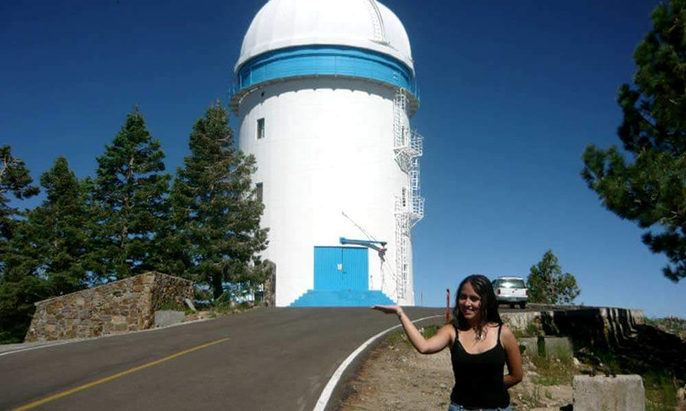 Oriana Trejo Álvarez divulgadora de astronomía