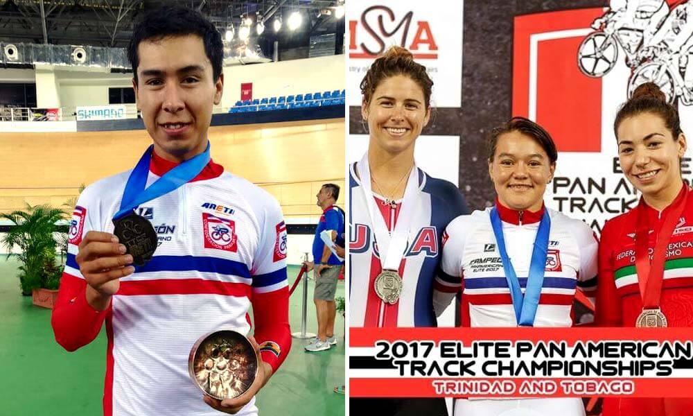 Ignacio Prado y Jessica Salazar logran medallas en Campeonato Panamericano de Ciclismo de Pista 2017