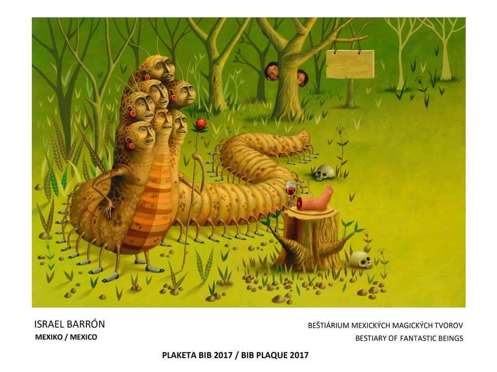 Ilustración de Israel Barrón en Bestiario de Seres Fantásticos Mexicanos, ganador en Bienal de Ilustración de Bratislava 2017