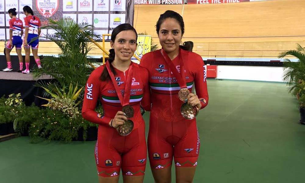 Mayra Rocha y Sofía Arreola logran medallas en Campeonato Panamericano de Ciclismo de Pista 2017
