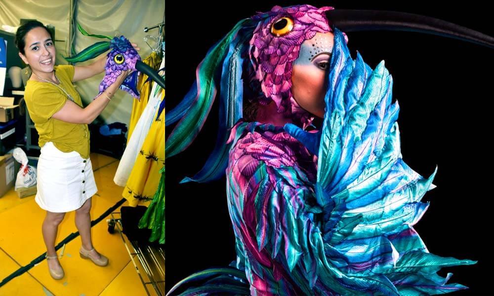 Daniela Romero, asistente de vestuario en Luzia, Cirque du Soleil