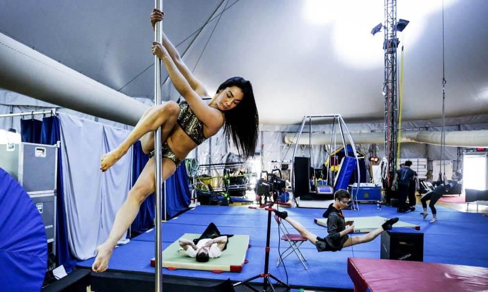 Diana Ham, pole dance en Luzia, Cirque du Soleil