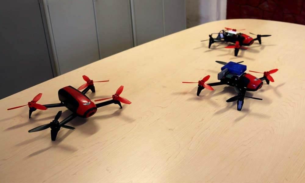 Drones del equipo mexicano del INAOE que ganaron en la carrera de drones autónomos en Canadá