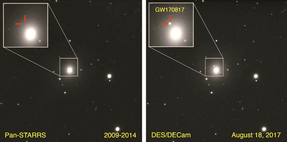 Evento GW170817 Fusión de estrellas de neutrones