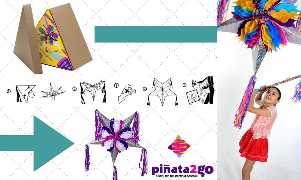 Instrucciones de armado de Piñata2Go