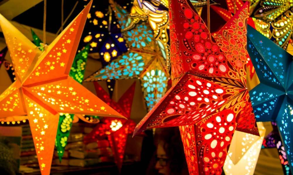 Lámparas estrella, inspiración de Piñata2Go