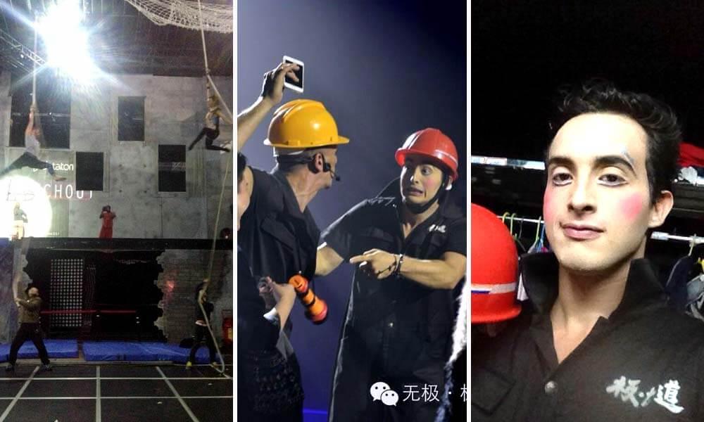 Roberto Carlos Reyes en el show Evolution, en Shenzen, China