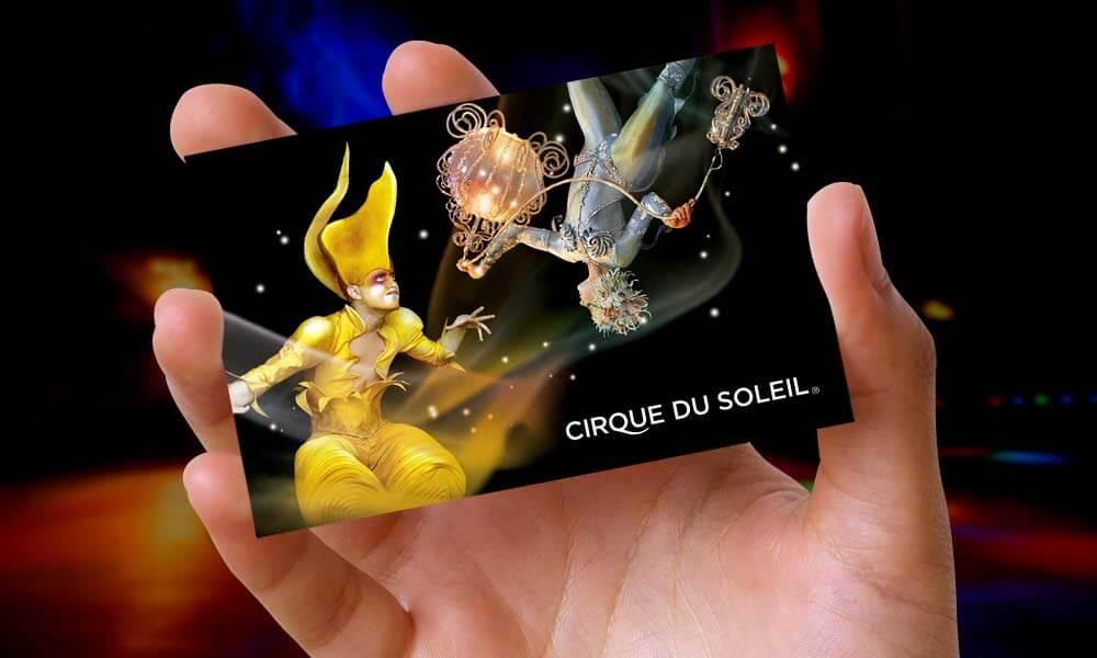 Tarjeta Cirque du Soleil