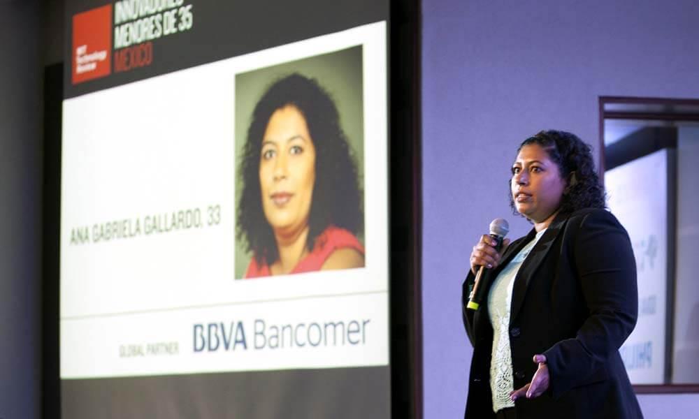 Ana Gabriela Gallardo en el Technology Review del MIT