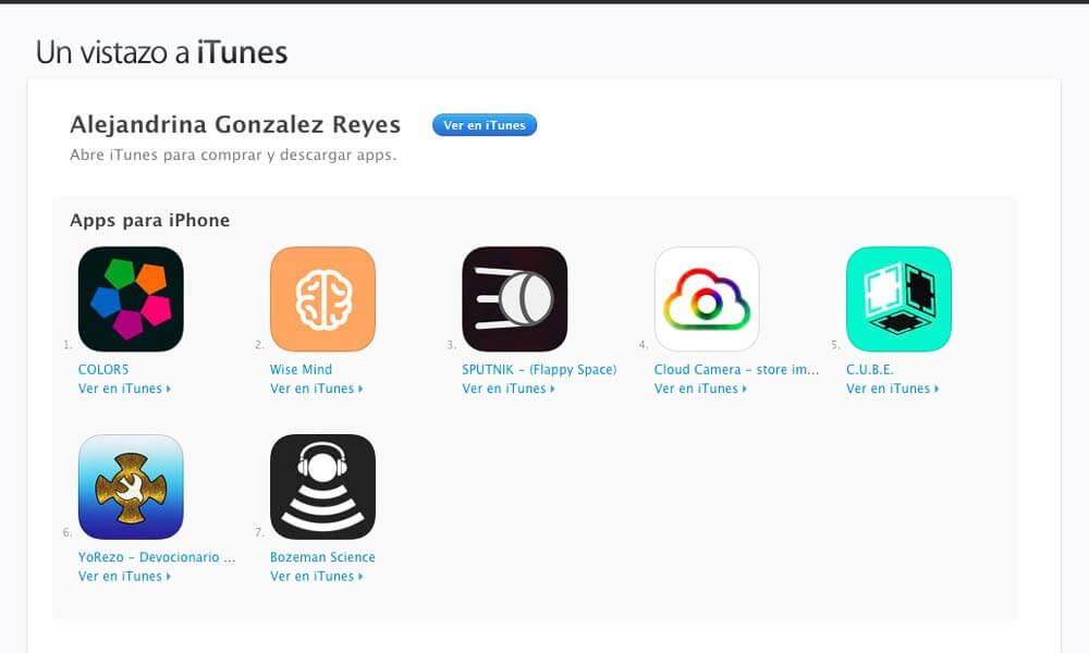Las aplicaciones desarrolladas por Alejandrina González Reyes disponibles en el App Store