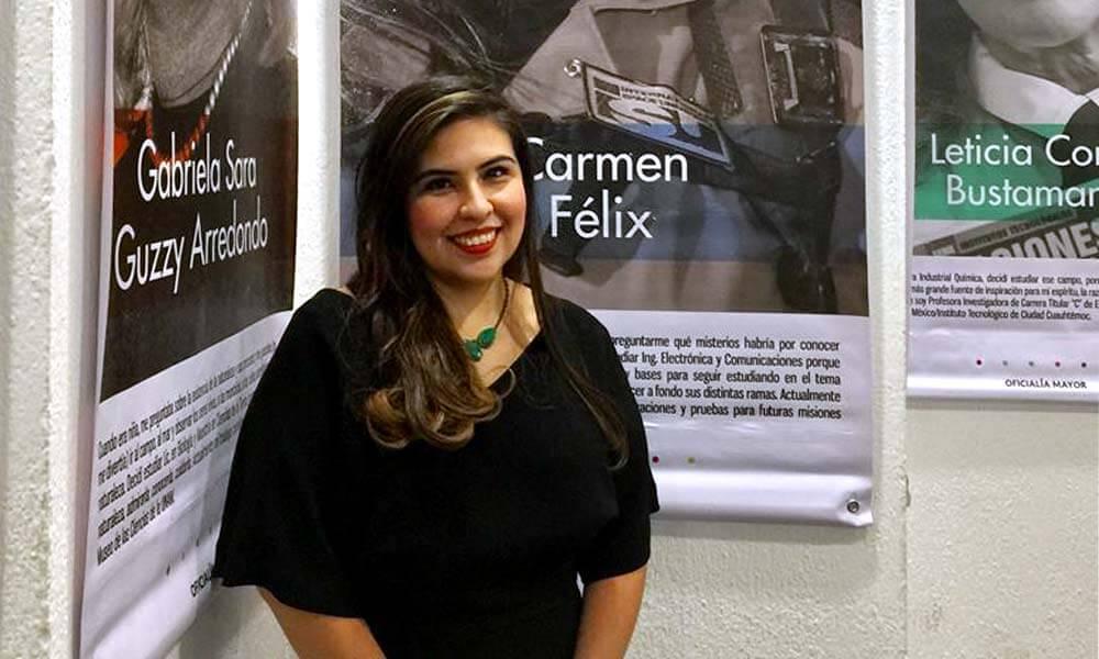 Carmen Félix Chaidez, supervisora del proyecto de simulación para colonizar Marte