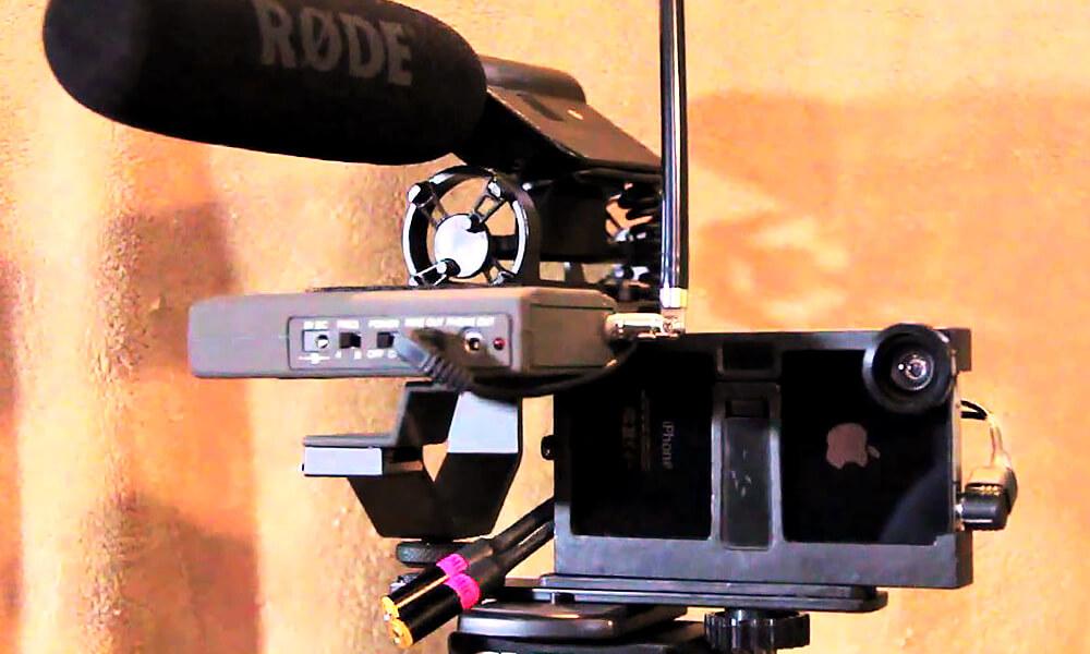 Equipo usado en la filmación de la película mexicana Oso Polar