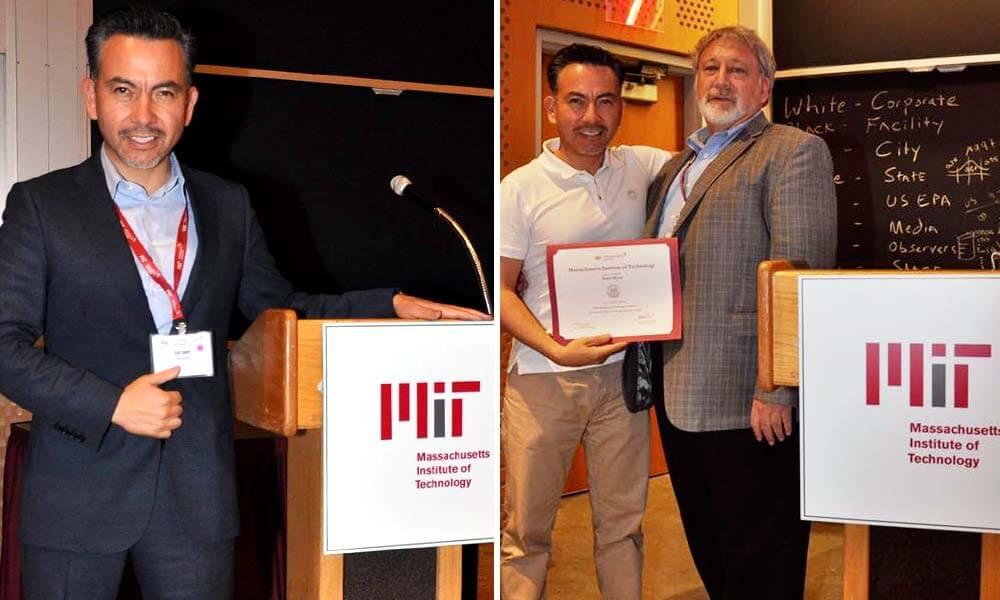 Israel Reyes Gómez concluyendo sus estudios en el MIT