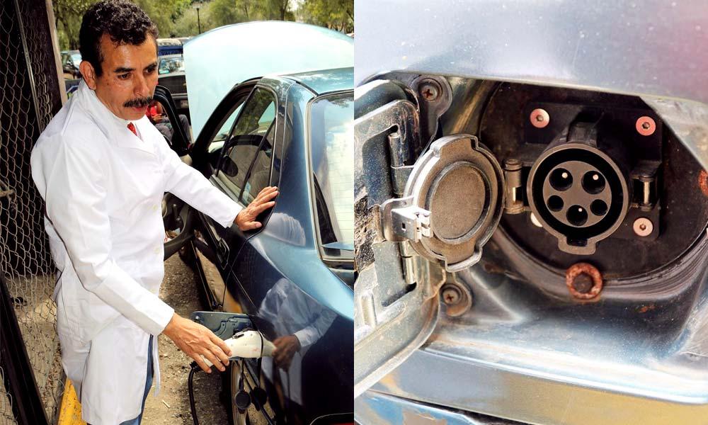 Sistema de recarga de automóvil de gasolina adaptado a sistema eléctrico de César Gustavo Gómez Sierra
