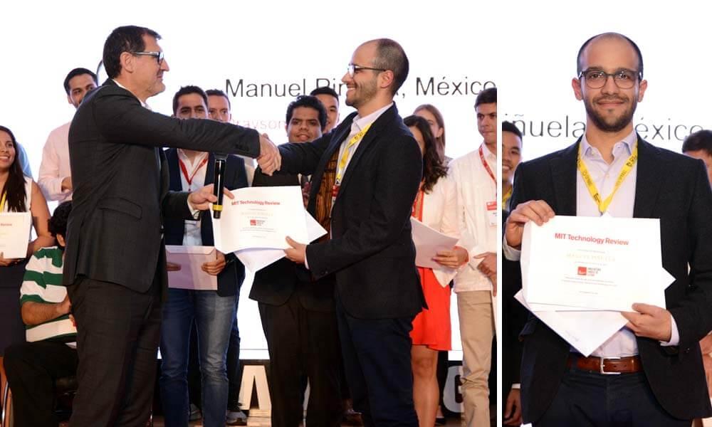 Manuel Piñuela reconocido como parte de los jóvenes innovadores de Latinoamérica menores de 35 años de edad