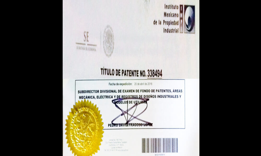 Patente de Nopalimex