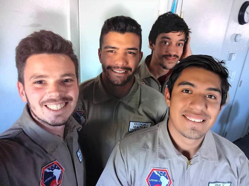 Latinoamericanos en Tripulación 180 LATAM-I viaje simulación a Marte