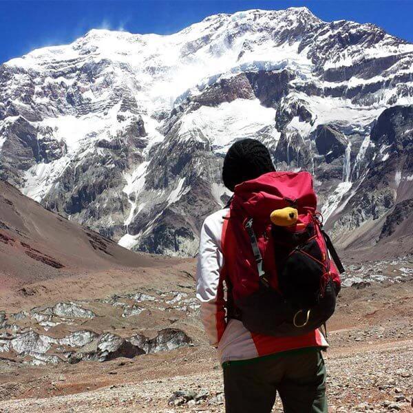 Mariana Torres en Parque Provincial del Aconcagua