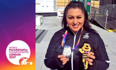 Medalla de plata de María de los Ángeles Ortiz Hernández en Campeonato Mundial Paralímpico Londres 2017