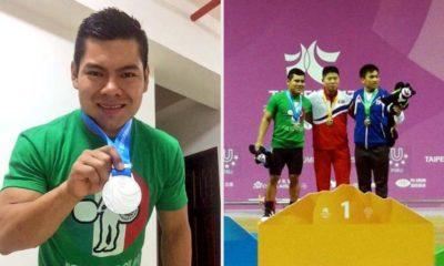 Antonio Vázquez consigue de plata en levantamiento de pesas en Universiada Mundial en Taipei 2017